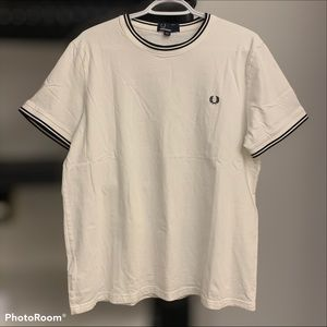Fred Perry size large white t shirt classic